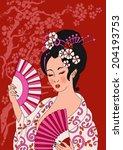 beautiful oriental banners....   Shutterstock .eps vector #204193753