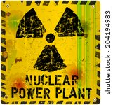 nuclear power plant sign ... | Shutterstock .eps vector #204194983