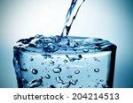 closeup of a refreshing glass... | Shutterstock . vector #204214513