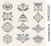 hipster style elements and... | Shutterstock .eps vector #204232207