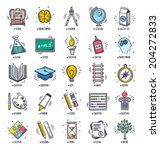 education and learning icon set.... | Shutterstock .eps vector #204272833