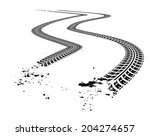 tire tracks. vector... | Shutterstock .eps vector #204274657
