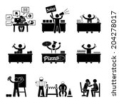 icon human labor. jobs icons... | Shutterstock .eps vector #204278017