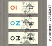 design cards  vector | Shutterstock .eps vector #204282697