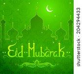 vector illustration of eid... | Shutterstock .eps vector #204294433