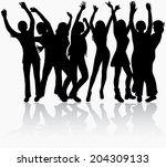 woman silhouette | Shutterstock .eps vector #204309133