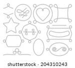vector set of decorative rope... | Shutterstock .eps vector #204310243