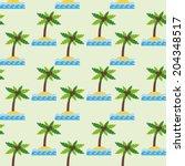 seamless pattern with cartoon... | Shutterstock . vector #204348517