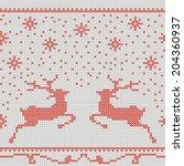 christmas embroidery cross... | Shutterstock .eps vector #204360937