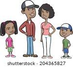 vector illustration of happy... | Shutterstock .eps vector #204365827