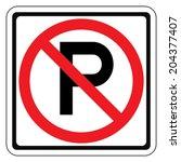 Warning Traffic Sign  No Parking