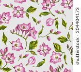 beautiful seamless floral... | Shutterstock .eps vector #204404173