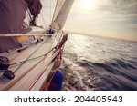 close up view on sea yacht... | Shutterstock . vector #204405943