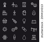 energy   power icons | Shutterstock .eps vector #204414313