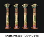 3d illustration of egyptian... | Shutterstock . vector #20442148