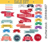 set of discount tickets  labels ... | Shutterstock .eps vector #204446407