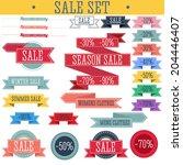 set of discount tickets  labels ... | Shutterstock .eps vector #204446407