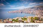 Panoramic View On Sarande City...