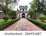 temple of literature in hanoi ...   Shutterstock . vector #204451687