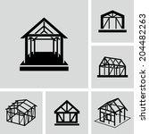 house frame   Shutterstock .eps vector #204482263