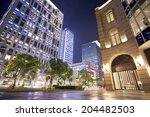 modern city street after heavy... | Shutterstock . vector #204482503