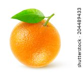 Isolated Orange. One Fresh...