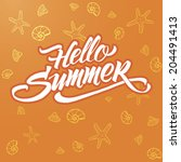 summer | Shutterstock .eps vector #204491413