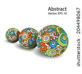 3d model colored balls. vector... | Shutterstock .eps vector #204498067