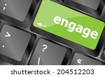 engage button on computer pc... | Shutterstock . vector #204512203