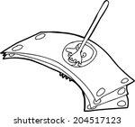 white symbolic cartoon of... | Shutterstock .eps vector #204517123