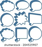 retro speech and thought bubbles | Shutterstock .eps vector #204525907