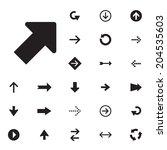 arrow sign vector icon set.... | Shutterstock .eps vector #204535603
