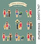 set of color family  parent... | Shutterstock .eps vector #204571747