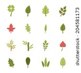 leaf icons vector eps10 | Shutterstock .eps vector #204581173