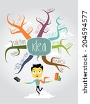 mind mapping | Shutterstock .eps vector #204594577