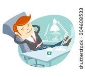 illustration of  office man... | Shutterstock . vector #204608533