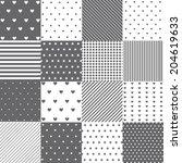 seamless pattern set   Shutterstock .eps vector #204619633