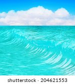 wave in the sea | Shutterstock . vector #204621553