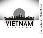vietnam  skyline design  vector ... | Shutterstock .eps vector #204633547