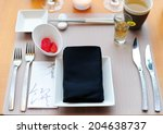 hotel service  table in a... | Shutterstock . vector #204638737