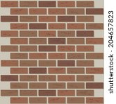 brick wall   repeat pattern | Shutterstock .eps vector #204657823