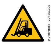 warning sign  beware forklift | Shutterstock .eps vector #204661303