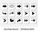 illustration of arrow button... | Shutterstock . vector #204661603