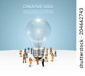 the idea of   working. vector...   Shutterstock .eps vector #204662743