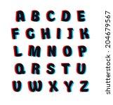 cartoon alphabet set with... | Shutterstock .eps vector #204679567