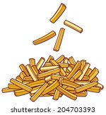a pile of french fries | Shutterstock .eps vector #204703393