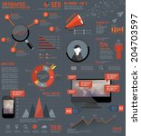 seo elements infographic design ... | Shutterstock .eps vector #204703597