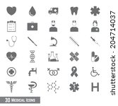 medical icons | Shutterstock .eps vector #204714037