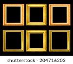 set of golden vintage frame... | Shutterstock . vector #204716203