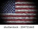 American Flag Over A Grunge...